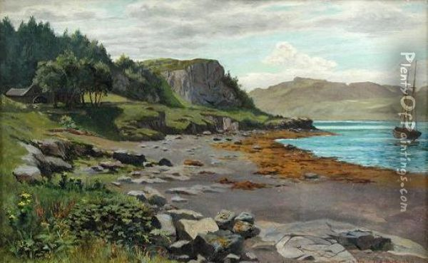 The Sound Of Kerry Oil Painting - Thomas James Judkin