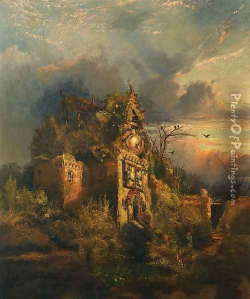 Haunted House II Oil Painting - Thomas Moran