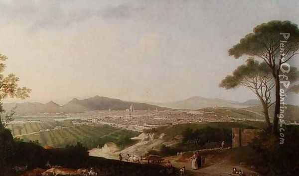View of Florence Oil Painting - Thomas Patch