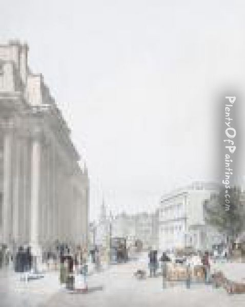 Board Of Trade, Whitehall Oil Painting - Thomas Shotter Boys