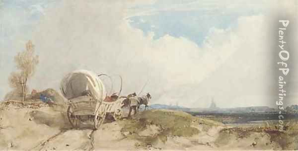 Landscape with a wagon Oil Painting - Thomas Shotter Boys