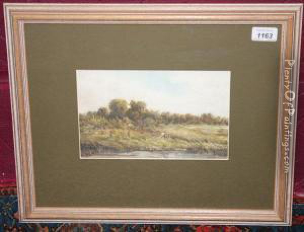 Summers Eveningat Wilmslow Oil Painting - Thurston Laidlaw Shoosmith