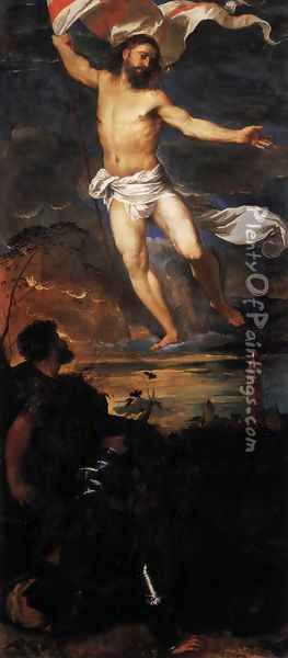 Polyptych of the Resurrection, Resurrection Oil Painting - Tiziano Vecellio (Titian)