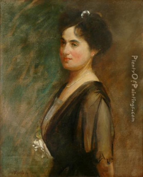 Portrait Of Violet Bancroft Oil Painting - Tom Roberts