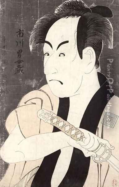 The actor Ichikawa Omezu in the role of the servant Yakko Ippei, 1794 Oil Painting - Toshusai Sharaku