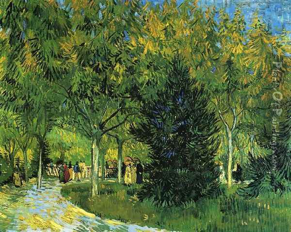 Avenue in the Park Oil Painting - Vincent Van Gogh