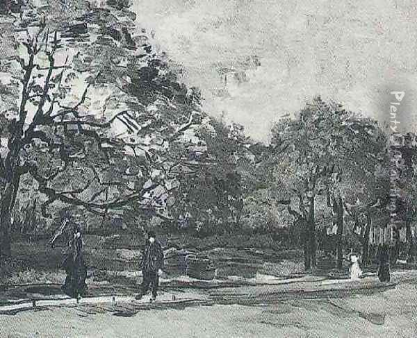 Bois De Boulogne With People Walking The III Oil Painting - Vincent Van Gogh