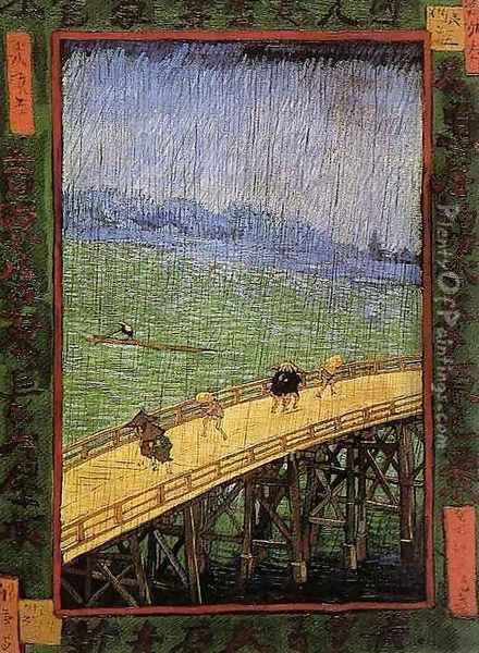 Bridge in the Rain Oil Painting - Vincent Van Gogh