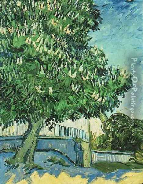 Chestnut Tree In Blossom Oil Painting - Vincent Van Gogh