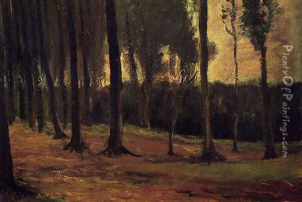 Edge Of A Wood Oil Painting - Vincent Van Gogh