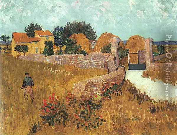 Farmhouse in Provence Oil Painting - Vincent Van Gogh