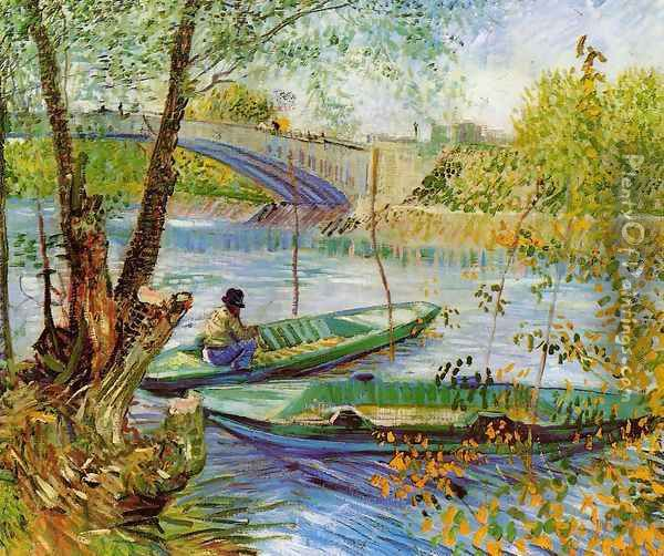 Fishing In Spring Oil Painting - Vincent Van Gogh