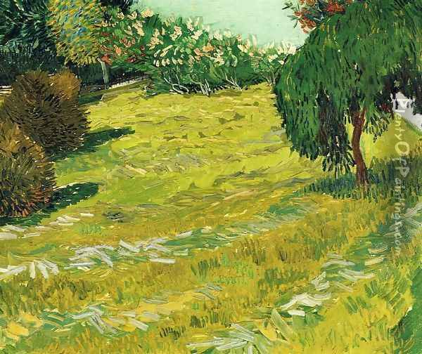 Garden with Weeping Willow Oil Painting - Vincent Van Gogh