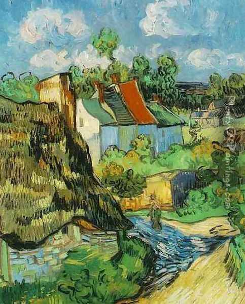 Houses In Auvers Oil Painting - Vincent Van Gogh