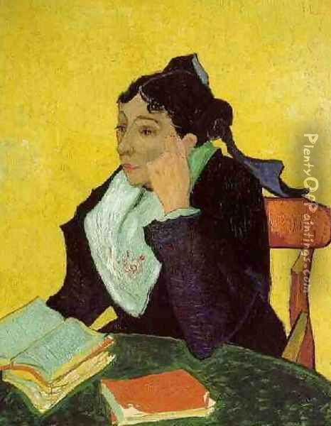 LArlesienne: Madame Ginoux With Books Oil Painting - Vincent Van Gogh