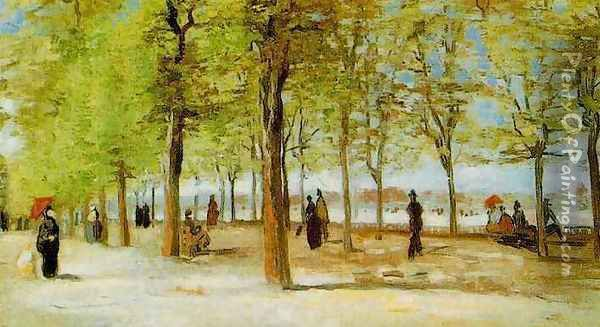 Lane At The Jardin Du Luxembourg Oil Painting - Vincent Van Gogh