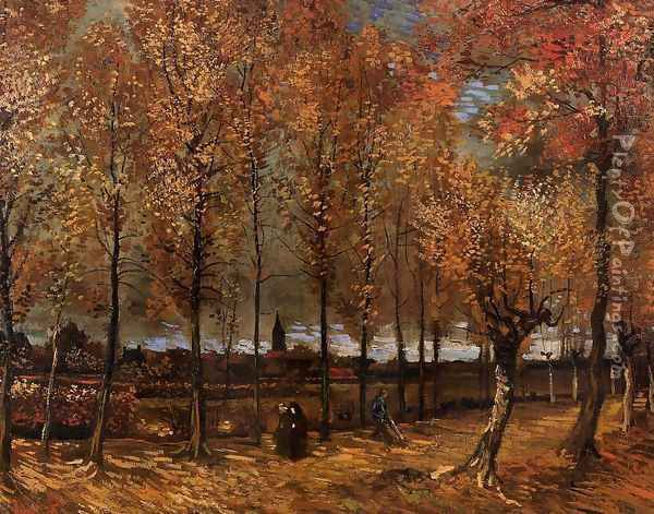 Lane With Poplars Oil Painting - Vincent Van Gogh