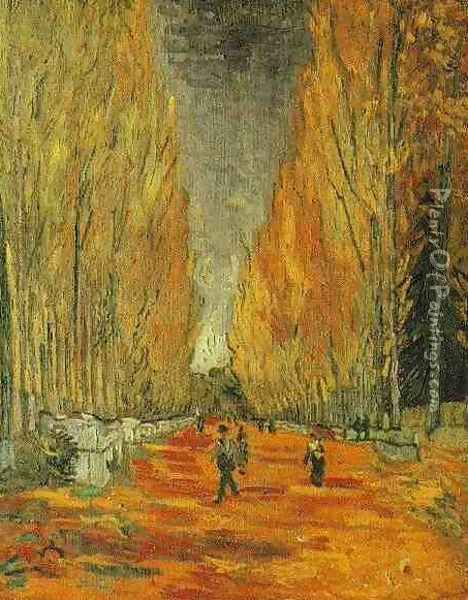 Les Alyscamps III Oil Painting - Vincent Van Gogh