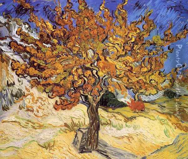 Mulberry Tree Oil Painting - Vincent Van Gogh