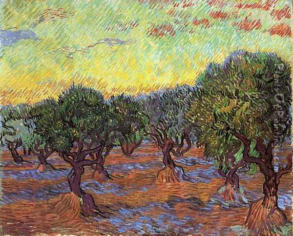 Olive Grove I Oil Painting - Vincent Van Gogh