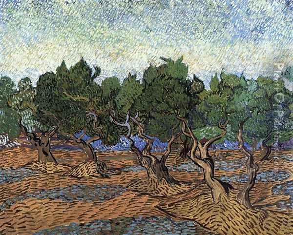 Olive Grove III Oil Painting - Vincent Van Gogh