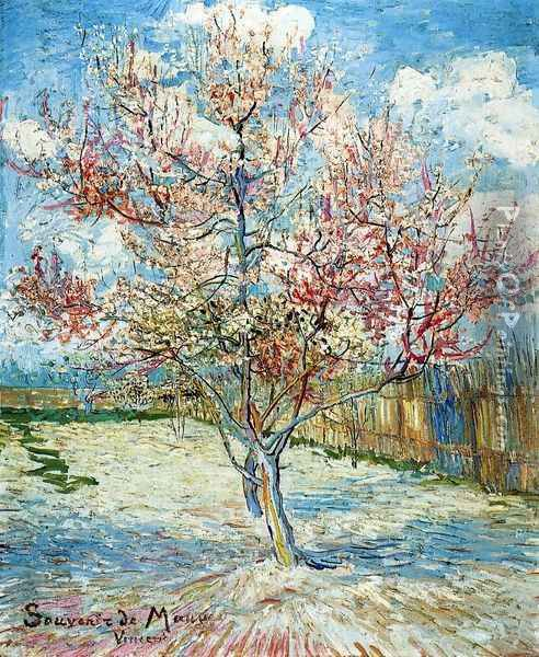 Peach Trees in Blossom Oil Painting - Vincent Van Gogh