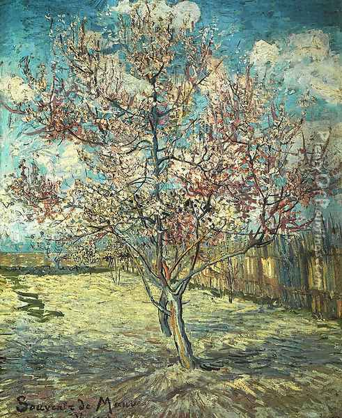 Pink Peach Tree In Blossom (Reminiscence Of Mauve) Oil Painting - Vincent Van Gogh