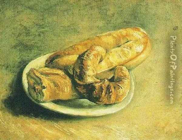 Plate Of Rolls A Oil Painting - Vincent Van Gogh