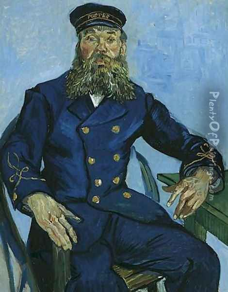 Portrait Of The Postman Joseph Roulin Oil Painting - Vincent Van Gogh