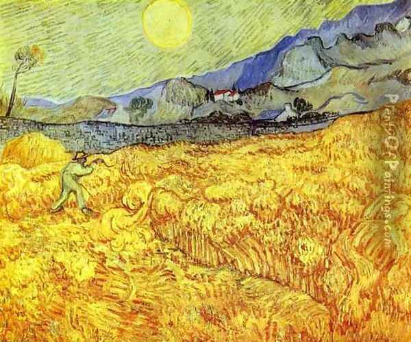 Reaper Oil Painting - Vincent Van Gogh