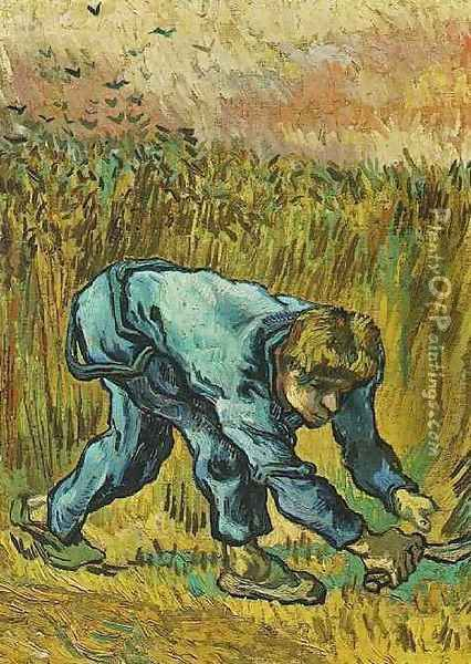 Reaper With Sickle (after Millet) Oil Painting - Vincent Van Gogh