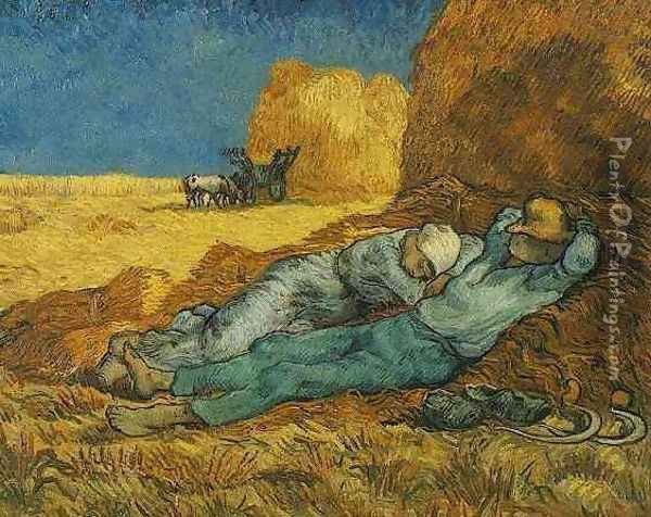 Rest From Work (after Millet) Oil Painting - Vincent Van Gogh