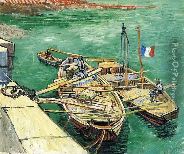 Sand Barges Oil Painting - Vincent Van Gogh