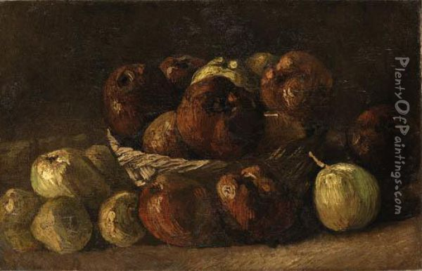 Still Life, Basket With Apples