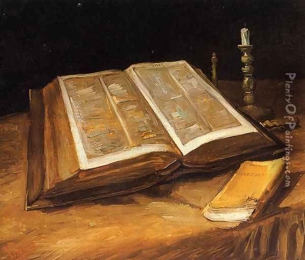 Still Life With Bible Oil Painting - Vincent Van Gogh