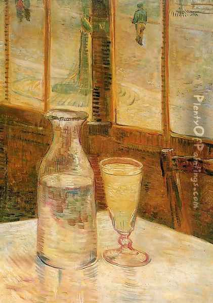 Still Life with Absinthe Oil Painting - Vincent Van Gogh