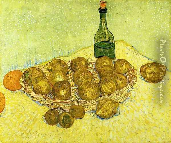 Still Life with a Bottle, Lemons and Oranges Oil Painting - Vincent Van Gogh