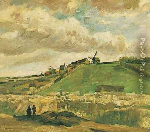 The Hill Of Montmartre With Quarry Oil Painting - Vincent Van Gogh