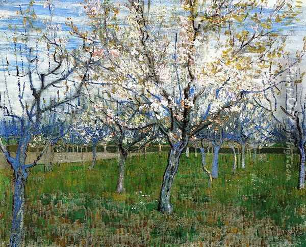 The Pink Orchard Oil Painting - Vincent Van Gogh