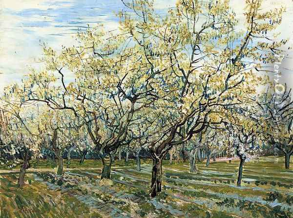 The White Orchard Oil Painting - Vincent Van Gogh