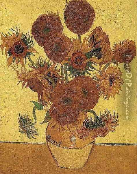 Vase With Fifteen Sunflowers Oil Painting - Vincent Van Gogh