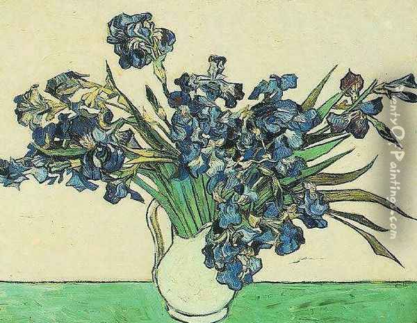 Vase With Irises Oil Painting - Vincent Van Gogh