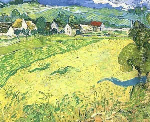 View Of Vessenots Near Auvers Oil Painting - Vincent Van Gogh