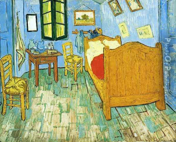 Vincent's Bedroom in Arles I Oil Painting - Vincent Van Gogh