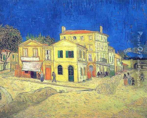 Vincent's House in Arles (The Yellow House) Oil Painting - Vincent Van Gogh