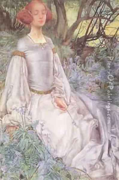 In The Spring Time 1901 Oil Painting - Vincenzo Foppa