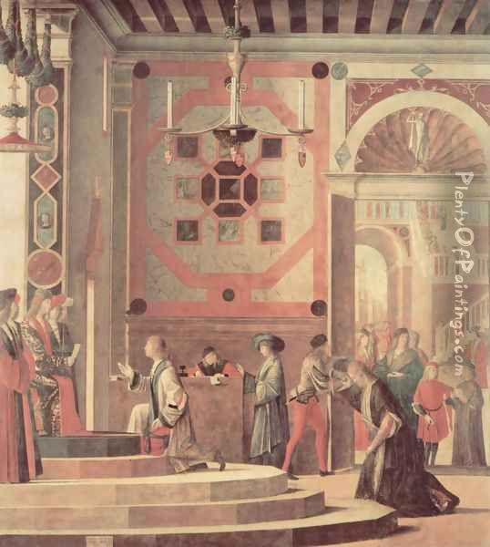The parting of the envoys Oil Painting - Vittore Carpaccio