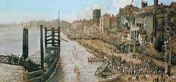Old Chelsea The Last Regatta Oil Painting - Walter Greaves