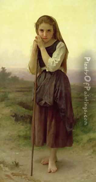 A Little Shepherdess 1891 Oil Painting - William-Adolphe Bouguereau