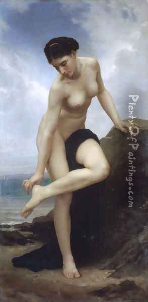 Apres Le Bain 1875 Oil Painting - William-Adolphe Bouguereau
